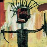 """Jean-Michel Basquiat. """"Autoportrait""""(détail), 1986, acrylique sur toile."""