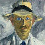 """Emil Nolde. """"Autoportrait"""" (Détail), 1917, huile sur contreplaqué."""