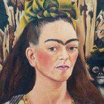 """Frida Kahlo. """"Autoportrait avec singe"""" (Détail), 1945, huile sur Masonite."""