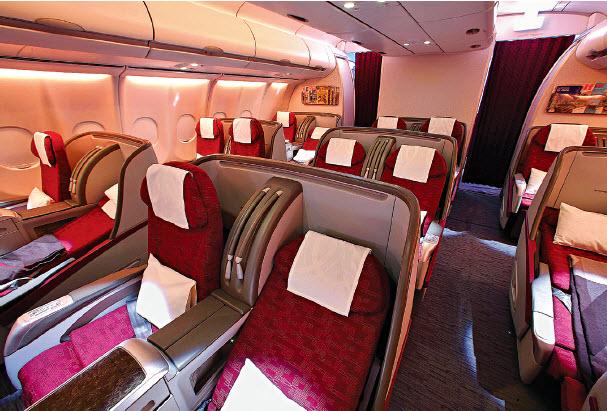 Classes affaires et conomique premium la course l for Interieur qatar airways