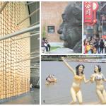 """1- Ouvert en 2005 à Pudong, le Shanghai Oriental Art Center accueille les orchestres philarmoniques du monde entier. Une œuvre, comme l'aéroport de Shanghai Pudong ou le grand théâtre national de Pékin, de l'architecte français Paul Andreu. 3 — Nanjing Donglu, """"la rue n° 1 de Chine"""", illustre la soif de consommation qui saisit le pays. Un marché domestique immense qui suscite bien des ambitions2 et 4 — C'est à Shanghai qu'Einstein apprit son obtention du prix Nobel. Sa statue, exposée dans le district arty de Red Town, regarde l'évolution d'une ville qui mise sur la science et l'éducation pour préparer l'avenir. Dans cette zone créative également, le Sculpture Park revisite, dans un mode ludique, le thème des baigneuses."""
