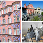 Des accents Art nouveau avec la façade géométrique de la Banque Coopérative, rue Miklosiceva (1) ; l'élégance de la place Preseren et ses maisons bourgeoises fin XIXe (2) ; l'allure racée des lipizzans (3) chérie par les Habsbourg : capitale à taille humaine, Ljubljana s'est donnée des airs séduisants de Mitteleuropa.