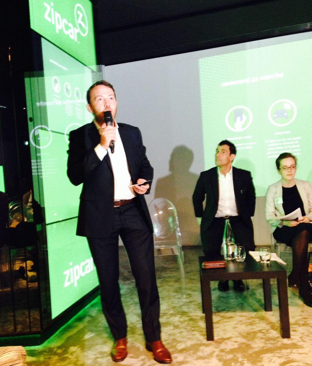 Etienne Hermite, Directeur général France, lors du lancement officiel de Zipcar à Paris le 16 septembre