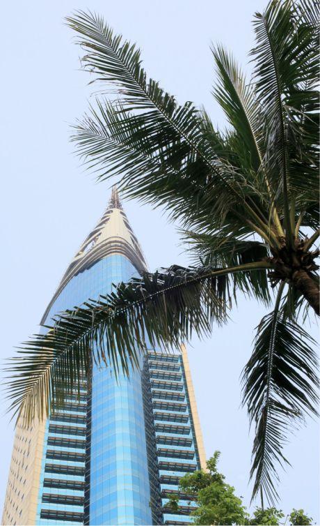 3 — Plus haut gratte-ciel d'Indonésie, la tour de bureau Wisma 46 a été inaugurée en 1996.