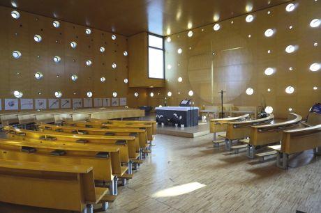 L'église de DonauCity, vouée comme l'ensemble du quartier à la modernité.