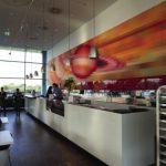 À Donau City, la tendance gastronomique gravite autour du Saturn Lounge.