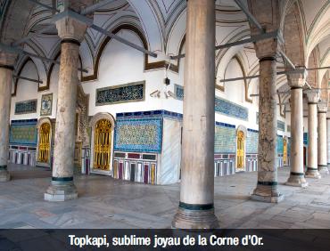 Topkapi, sublime joyau de la Corne d'Or.