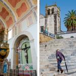 1 — Le patrimoine alentejan fait aussi les douces nuits des visiteurs. Plusieurs châteaux médiévaux, transformés en pousadas, sont passés de l'esprit chevaleresque à une tradition hospitalière, tandis que des lieux pieux se sont voués à un usage profane comme le Convento do Espinheiro, près d'Evora. 2 — À Serpa, la blancheur est une fierté, un blason ; presque une affaire de famille chaulant leurs maisons de concert. Au point d'organiser un concours annuel pour récompenser la plus immaculée parmi toutes les rues qui grimpent vers les remparts du château.