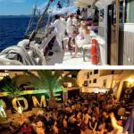 1 — Anciens voiliers marchands, des goélettes comme la Cala Millor s'affrêtent pour des croisières exclusives entre Ibiza et Formentera. 2 — La nuit à Ibiza est au programme de toutes les opérations corporate, bien sûr en carré VIP.