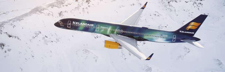 Un appareil Icelandair en vol