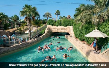 Savoir s'amuser n'est pas qu'un jeu d'enfants. Le parc Aquaventure le démontre à loisir.