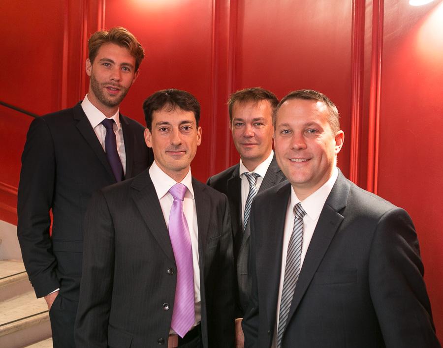 S. Renaud et J. Staelen (3mundi), avec S. Norris et F. Bumm (FCm)