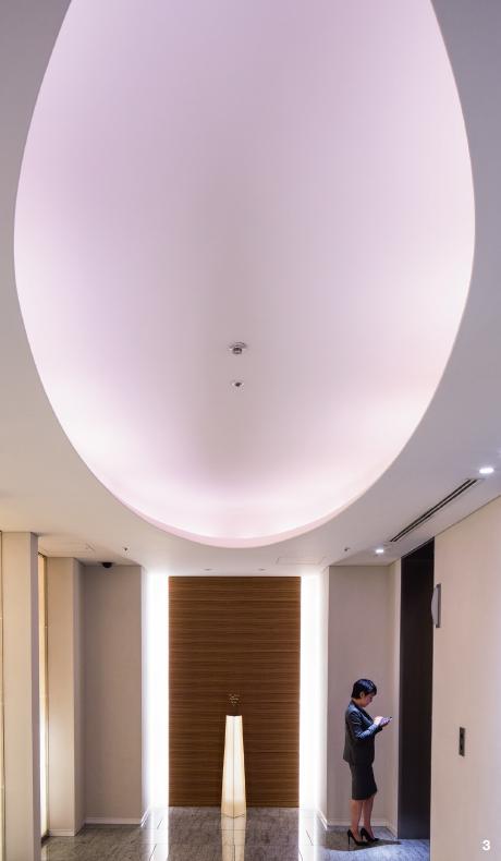 3 — Dans le quartier de Shiodome qui abrite dans ses gratte-ciel nombre de sièges sociaux, le Conrad Tokyo, du groupe Hilton, exerce depuis dix ans son art de l'excellence à destination des voyageurs d'affaires.