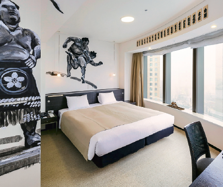 Si plastiquement japonais, le Park Hotel a pourtant été conçu par l'architecte français Frédéric Thomas.