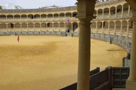 """La """"plaza de toros"""" de la ville, construite en 1785."""