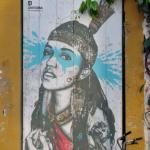 """Longtemps populaire, le quartier de Getsemani devient un lieu d'expression du street art avec des oeuvres comme """"la Heroica"""", de l'Irlandais Fin DAC."""