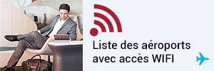 Liste des aéroports avec wifi