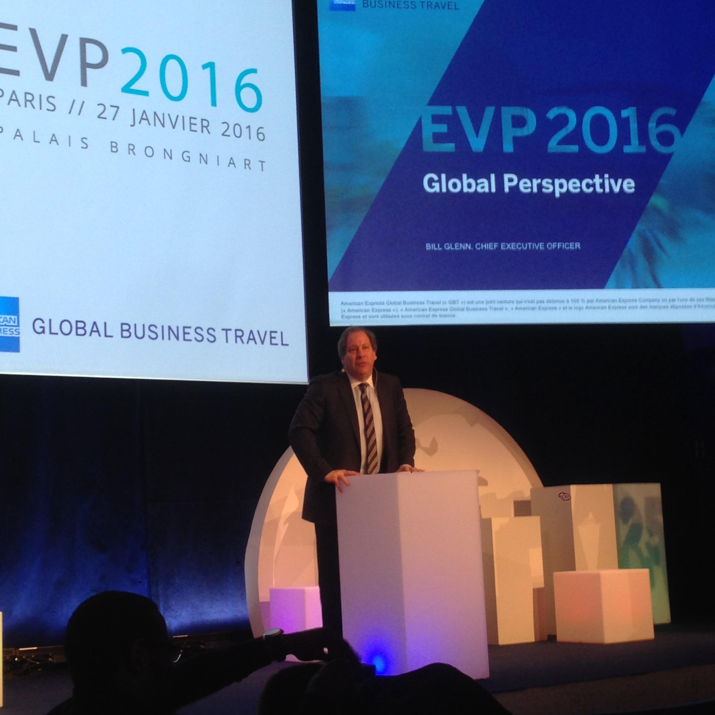 Bill Glenn, Pdg d'American Express GBT, a inauguré ce 25ème EVP