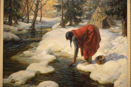Une vie au plus proche de la nature comme le montrent les scènes exposées au musée des Beaux-Arts à Québec