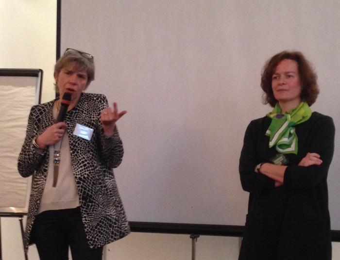 Agnès Ogier, DG de Thalys, lors de la présentation de la nouvelle offre low-cost IZY