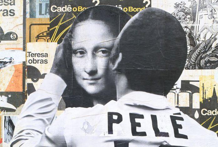 Futebol, quand tu nous tiens… Sur les murs de la ville s'écrivent les penchants cariocas, entre âme d'artiste et esthétique du ballon rond.