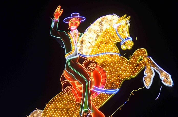 las vegas cow-boy neon