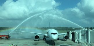 Singapore Airlines célèbre la livraison de son premier A350