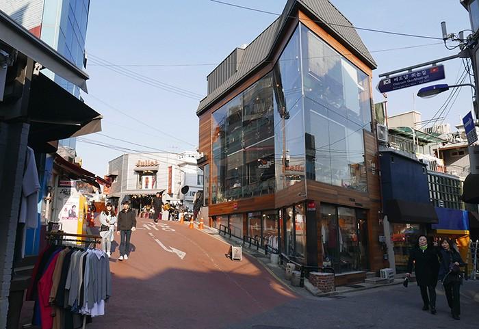 Le quartier animé d'Itaewon