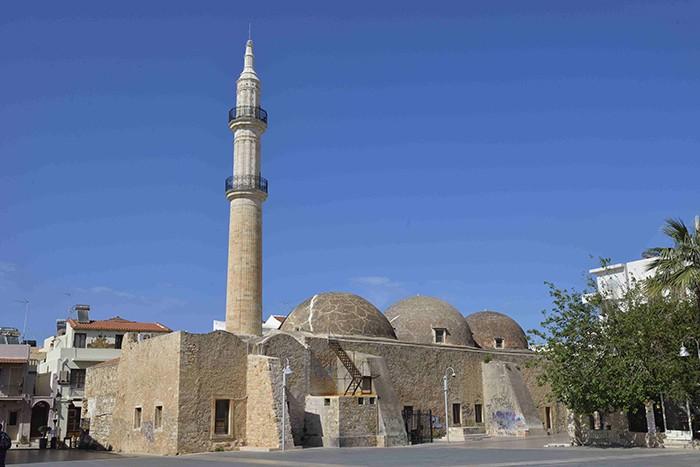 La Crète, Rethymnon, ancienne mosquée