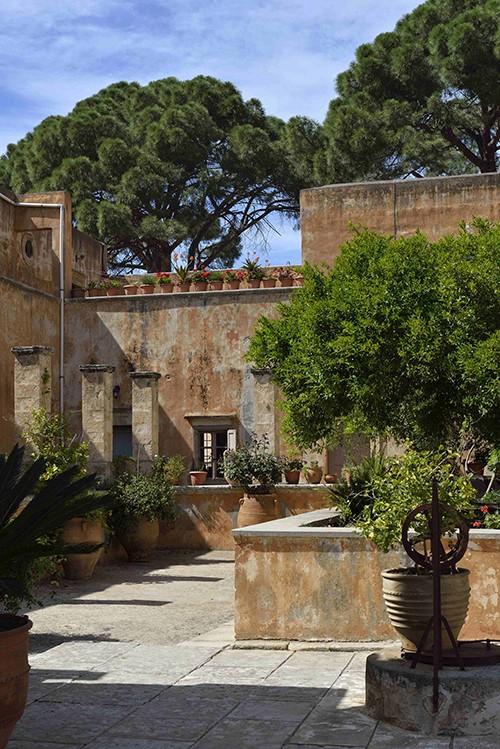 La Crète, presqu'île d' Akrotiri, monastère d'Agia triada