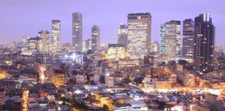 La skyline de Tel-Aviv, vue depuis l'hôtel Royal Beach. © LUDOVIC MAISANT