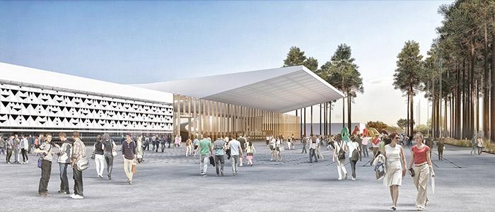 Le hall 2 du parc des expositions, prévu pour 2019.