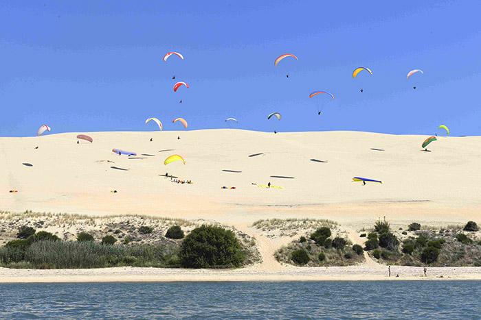La dune du Pilat, à l'entrée du bassin d'Arcachon.