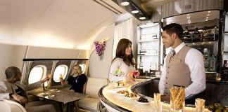 Bar lounge A380 d'Emirates
