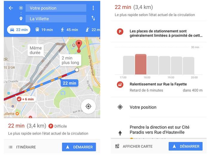 google maps lance l option parking paris. Black Bedroom Furniture Sets. Home Design Ideas