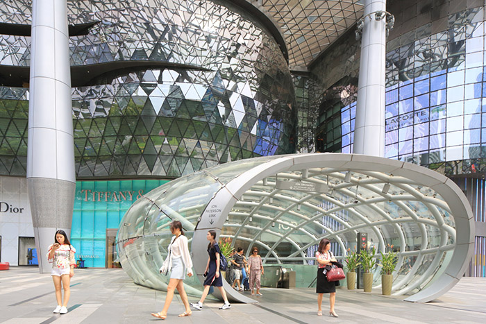 Singapour, centre commercial ION Orchard