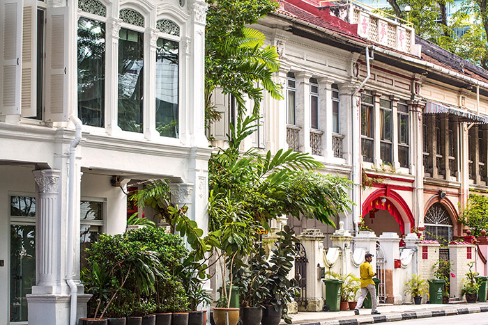 Descendants des marchands chinois venus s'implanter à Singapour, les Peranakan ont développé une architecture aujourd'hui préservée. © Ludovic Maisant