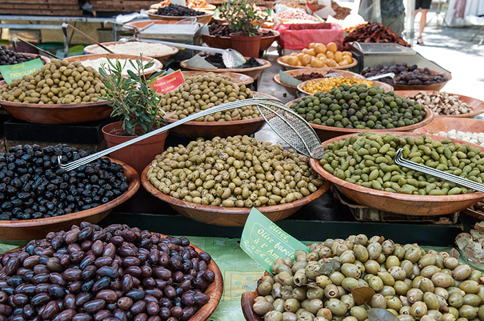 marché, olives