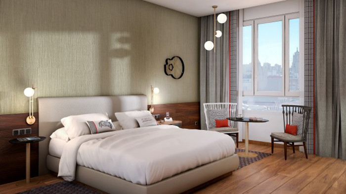 Chambre King du Hyatt Centric Gran Via Madrid