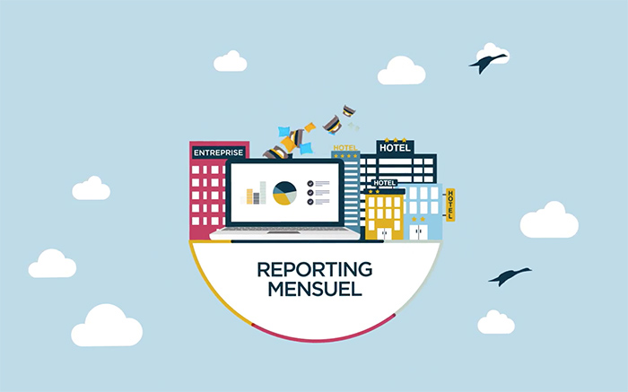 Une facturation centralisée et un reporting mensuel.