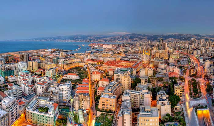Centre-ville de Beyrouth depuis l'hôtel Gray