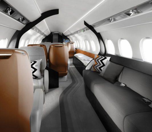 Le Falcon X6 est équipé de 29 hublots dont un dans le galley