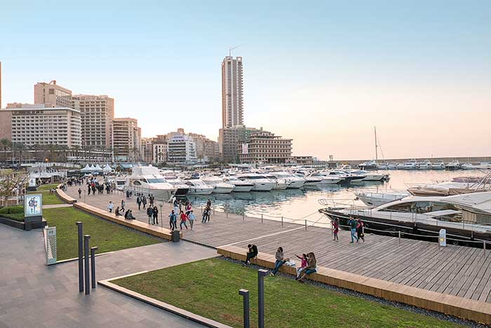 La marina de Beyrouth.