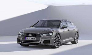Nouvelle Audi A6 : Audi est un des rares constructeurs à intégrer une e-SIM, une carte SIM virtuelle, dans ses voitures. Sa toute nouvelle berline emblématique A6 bénéficie aussi des dernières interfaces avancées du constructeur, avec des écrans tactiles particulièrement bien étudiés. © Audi