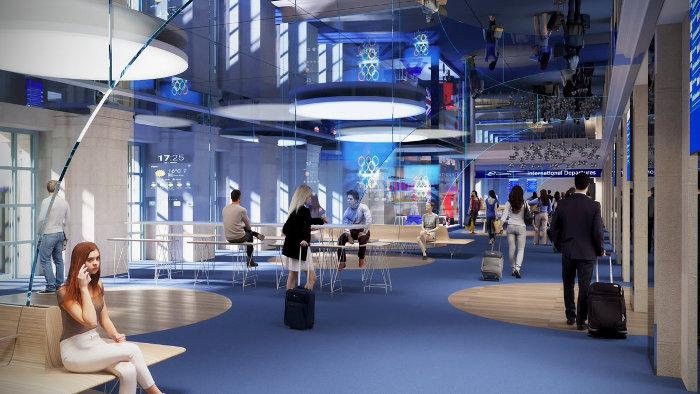 Une nouvelle salle pour les départs ©SNCF Gares&Connexions – Ceetrus – Valode & Pistre Architectes