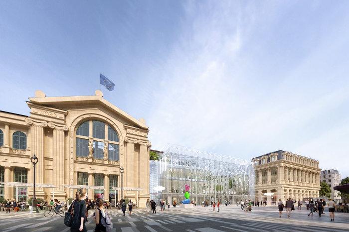 Une nouvelle façade rue du Faubourg St Denis ©SNCF Gares&Connexions – Ceetrus – Valode & Pistre Architectes