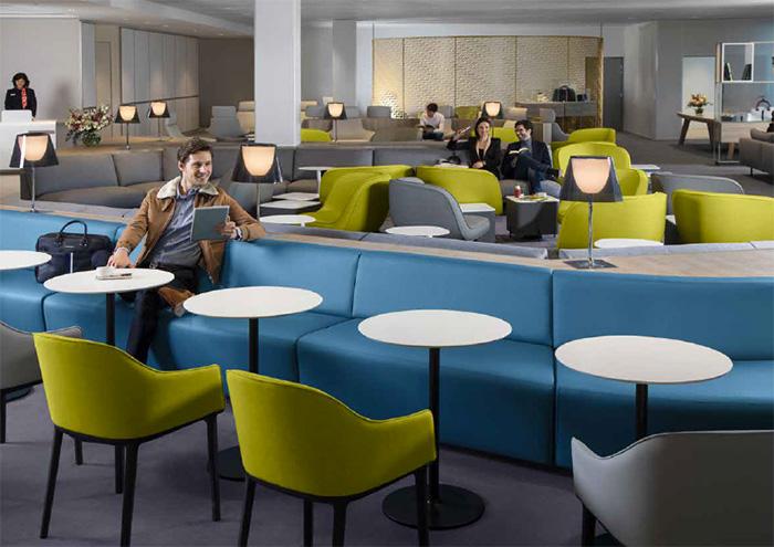 Salon air france un nouveau lounge chic et bien tre for Salon air france terminal 2e