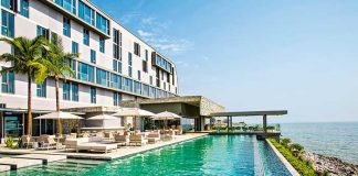 Le Noom Hotel Conakry a été sélectionné par l'ambassade de France comme point de rassemblement pour tous les ressortissants européens.© Mangalis Hotel Group