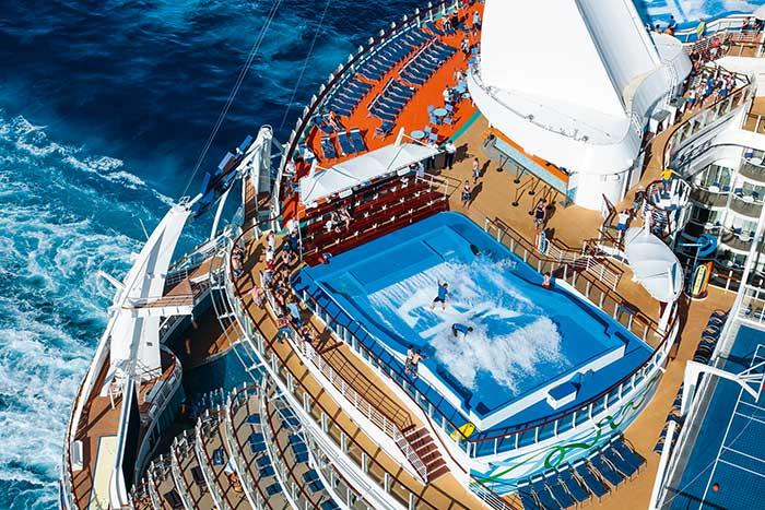 Le géant des mers Oasis of the Seas de Royal Caribbean consomme pourtant moins que les bateaux de plus petite taille. © Royal Caribbean