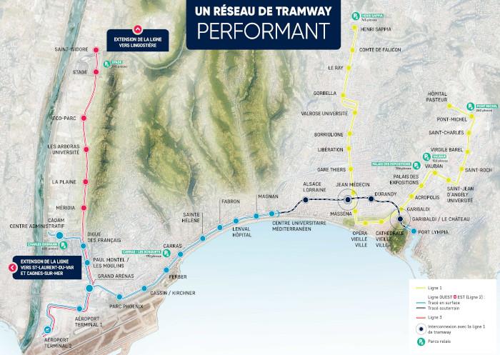 aéroport de Nice tramways